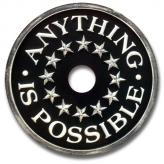 Anything is Possible Chandelier Medallion - Distressed Black