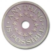 Anything is Possible Chandelier Medallion - Distressed Lilac