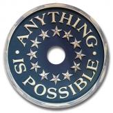 Anything is Possible Chandelier Medallion - Distressed Navy