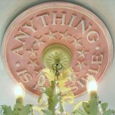 Anything is Possible Chandelier Medallion - Distressed Pink