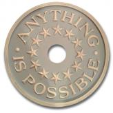 Anything is Possible Chandelier Medallion - Distressed Powder Blue