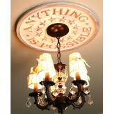 Anything is Possible Chandelier Medallion - Distressed Tan