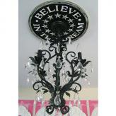 Believe in the Dream Chandelier Medallion - Distressed Black