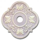 Butterfly Fancy Chandelier Medallion - Distressed Lilac