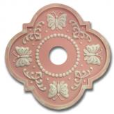 Butterfly Fancy Chandelier Medallion - Distressed Pink