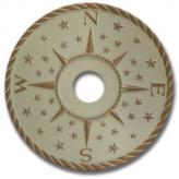 Compass Rose Chandelier Medallion - Distressed Ivory