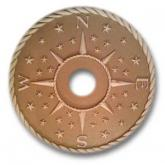 Compass Rose Chandelier Medallion - Distressed Tan
