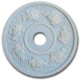 Fish Chandelier Medallion - Distressed Pale Blue