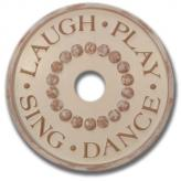 Laugh and Play Chandelier Medallion - Distressed Ivory