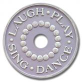 Laugh and Play Chandelier Medallion - Distressed Lilac