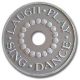 Laugh and Play Chandelier Medallion - Distressed Pale Olive
