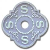 Chandelier Medallion Letter S - Distressed Lilac
