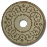 Round Mediterranean Chandelier Medallion - Distressed Ivory