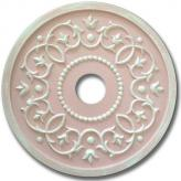 Round Mediterranean Chandelier Medallion - Distressed Pale Pink