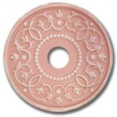 Round Mediterranean Chandelier Medallion - Distressed Pink
