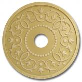 Round Mediterranean Chandelier Medallion - Distressed Yellow