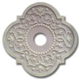 Fancy Mediterranean Chandelier Medallion - Distressed Lilac
