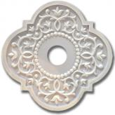 Fancy Mediterranean Chandelier Medallion - Distressed Pale Blue