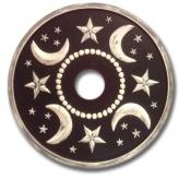Moon and Stars Chandelier Medallion - Distressed Black