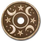 Moon and Stars Chandelier Medallion - Distressed Brown