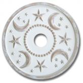 Moon and Stars Chandelier Medallion - Distressed Ivory