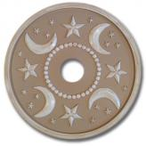 Moon and Stars Chandelier Medallion - Distressed Tan