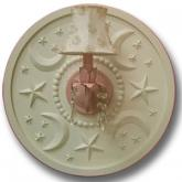 Moon and Stars Chandelier Medallion - Solid Ivory