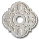 Pineapple Chandelier Medallions  - Solid White
