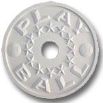 Play Ball Chandelier Medallion - Solid White