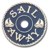 Sail Away Chandelier Medallion - Navy