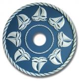 Sail Boat Chandelier Medallion - Light Blue