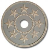 Stars Chandelier Medallion - Distressed Powder Blue