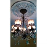 Sweet Dreams Chandelier Medallion - Distressed Light Blue