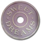 Sweet Dreams Chandelier Medallion - Distressed Lilac