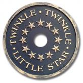 Twinkle Chandelier Medallion - Distressed Navy Blue