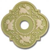 Bunnies Fancy Chandelier Medallion - Distressed Apple Green
