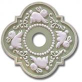 Bunnies Fancy Chandelier Medallion - Distressed Olive Green