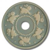 Bunnies Round Chandelier Medallion - Distressed Powder Blue
