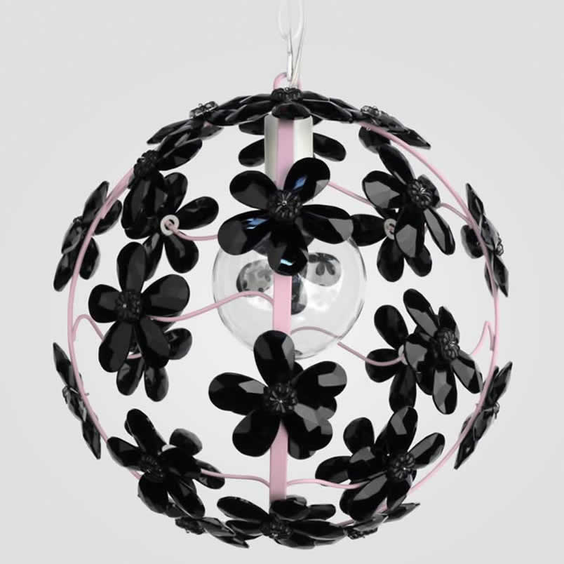 Chloe Black Crystal Chandelier by Maura Daniel Thumbnail 2