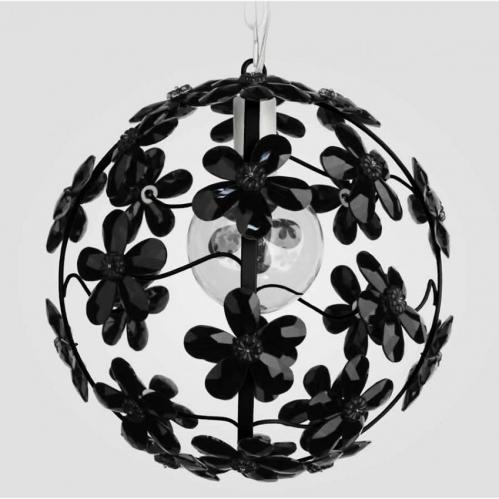 Chloe Black Crystal Chandelier by Maura Daniel Thumbnail