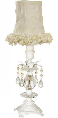 Petite Sophia White Lamp by Maura Daniel (White Floral Shade)
