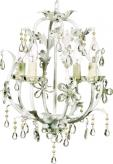 White Stella Chandelier by Maura Daniel