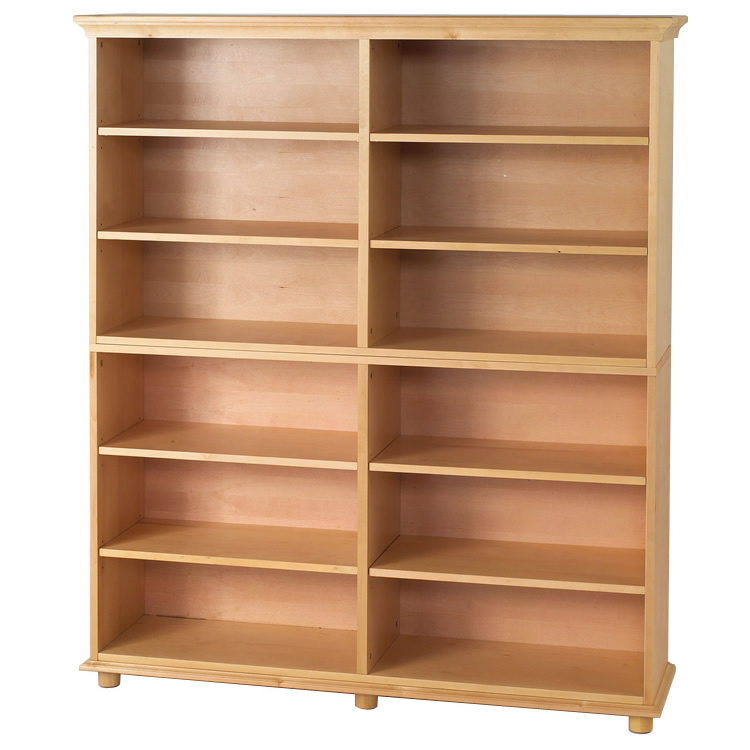 Huge 12 Shelf Bookcase in Natural by Maxtrix Kids