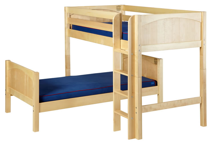 Mish Parallel Bunk Bed By Maxtrix Kids Natural Panel Twin L