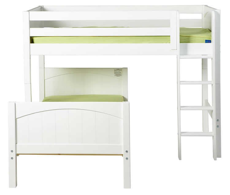 Mish Bunk Bed In White By Maxtrix Kids L Shape Frt 800