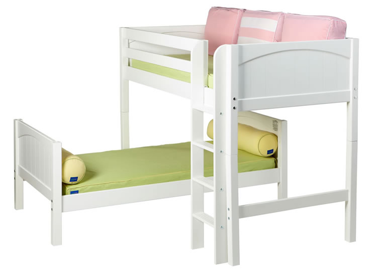 Mish Parallel Bunk Bed By Maxtrix Kids White Panel Twin L