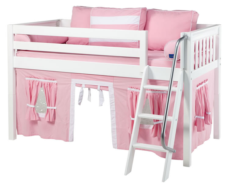 sc 1 st  Sweet Retreat Kids & Maxtrix Pink and White Tent Bed in White (Slat Bed Ends) (300.1)
