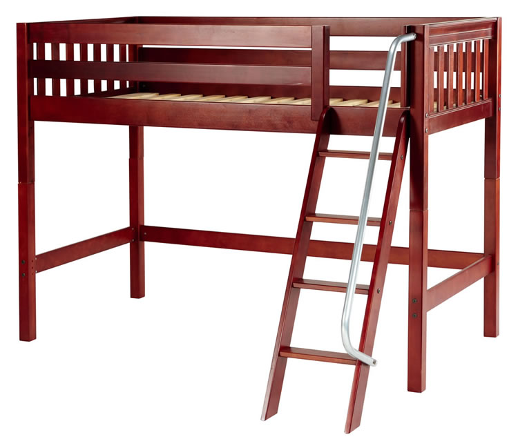 Chestnut Mid Loft Bed by Maxtrix kids (slat) (400.0) 750 x 649