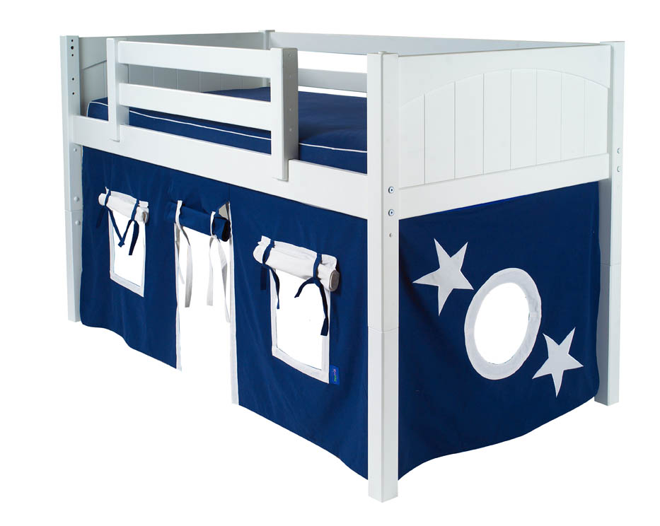 Blue And White Playhouse Bed Curtain