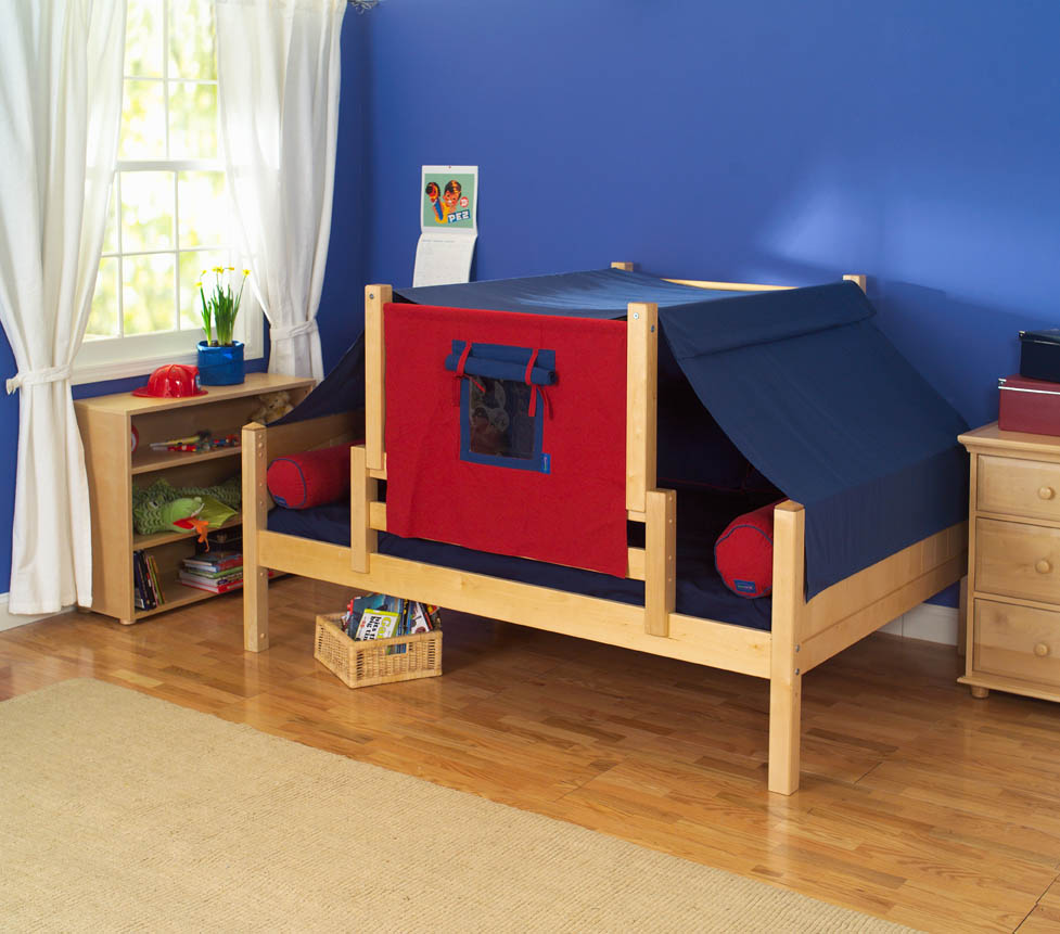 Day Bed Play Fort By Maxtrix Kids Blue Red On Natural